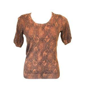 WHBM Snake Skin Pattern Shirt